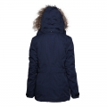 100% Polyester Europe Fashion Pading Long Jacket With Real Fur Hood