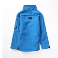 Seamless zipper kids soft shell with stand collar