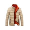 Ultra Thin Foldable Winters Stand Collar Duck Down Jacket For Men
