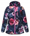 Bulk Wholesale Kids Clothing Children's Softshell Hoody Jackets With Flower Printing Made In China