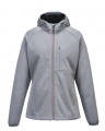 Custom Grey Hooded Women's Softshell Jacket